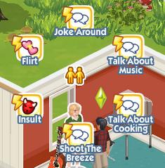 The Sims Social Pie Menu