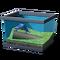 Полосатая баклажанная лягушка