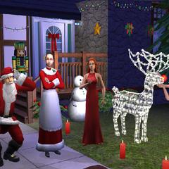 Familia Gentil en la pantalla de instalación de <i>Los Sims 2: Pack Navideño</i>.