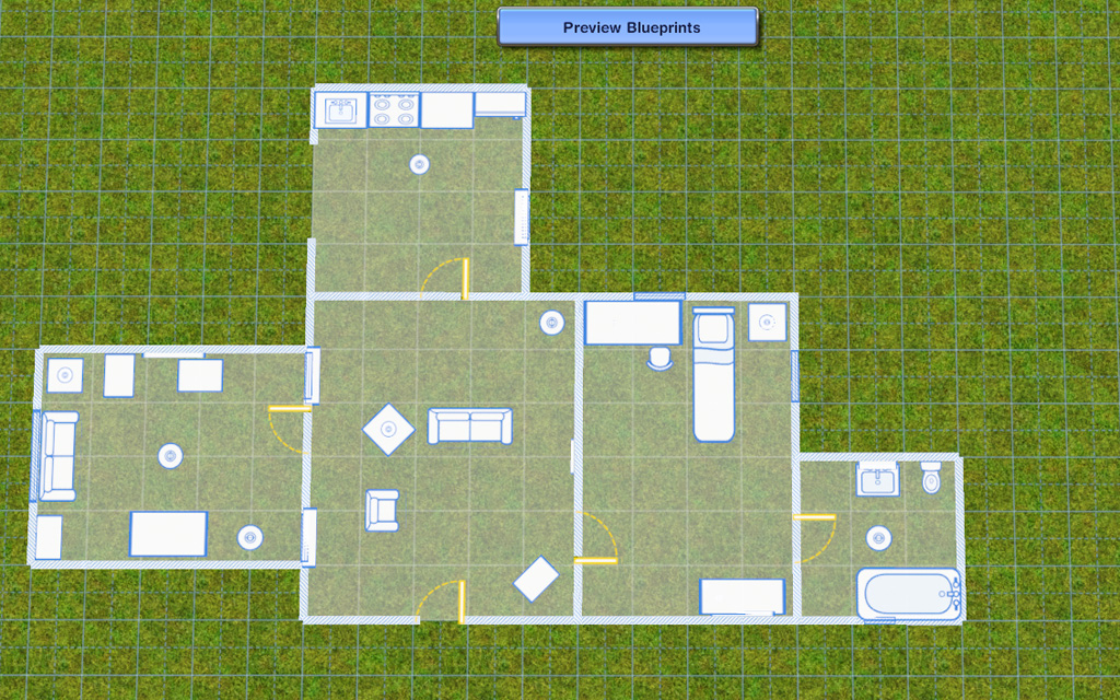 Blueprint for building a house blueprint mode the sims wiki fandom powered by wikia malvernweather Gallery