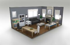 SuburbanContempo Interior LivingRoom