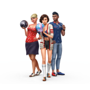 The Sims 4 Bowling Night Stuff Render 01