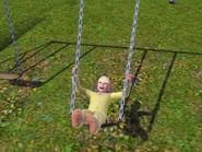 Darlene on the swing