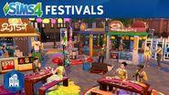 De Sims 4 Stedelijk Leven officiële festivaltrailer