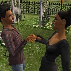 Casandra en su boda con <a href=