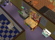 Amar's Restaurant second floor robot and toy crafting