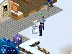 Sims 1 muñeco de nieve