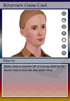 Elaine joy playing card