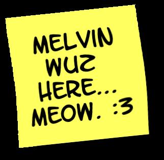 Sticky note - Melvin