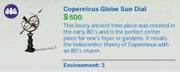 Copernicus Globe Sun Dial