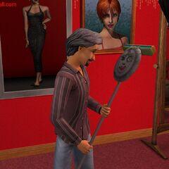 Juan Tenorio en la versión beta de <i>Los Sims 2</i>.