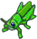 Зеленый кузнечик (иконка)