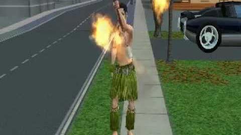 Sims 2 Bon Boyage Danza del Fuego