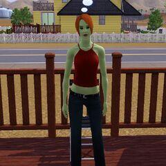 Esta es Clotilda Soltería versión los sims 3 para el proyecto (es una extraterrestre ya que tengo estaciones)
