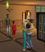 Harold and Lisa making out in front of kids