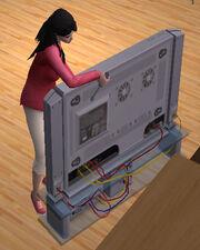 Sims fixing TV