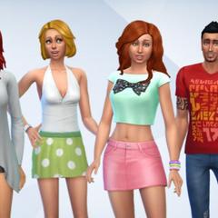 La familia Caliente en Los Sims 4.