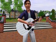 Chris plays guitar