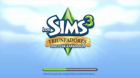 Pantalla de carga de Los Sims 3 Triunfadores.mp4