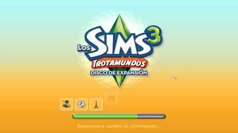Pantalla de carga de Los Sims 3 Trotamundos.mp4