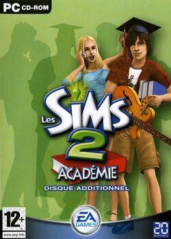 Jaquette Les Sims 2 Académie