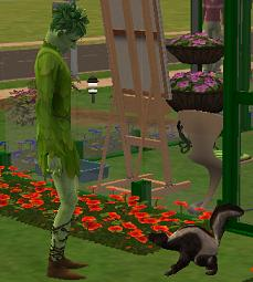 The sims 2 skunk
