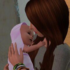 Una madre y su pequeña hija.