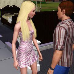 Dos jóvenes adultos interactuando.