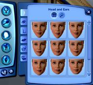 CAS - Tête et oreilles (Les Sims 3)