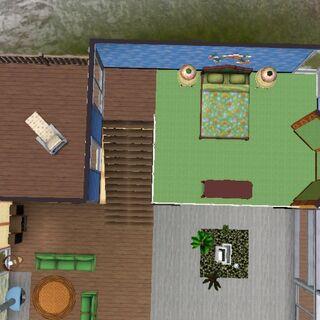 Habitación de planta abierta y balcón