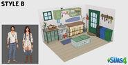 Création kit Les Sims 4 par fans - Style B