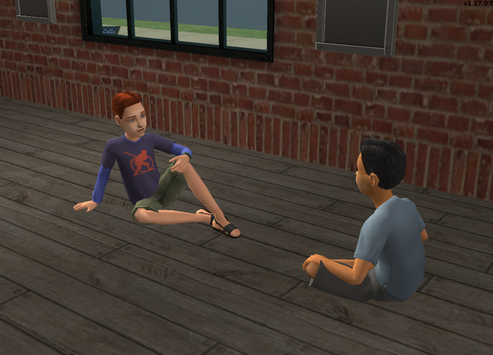 Evan and Lucas hanging out