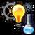 Uitvinden vaardigheid icoon