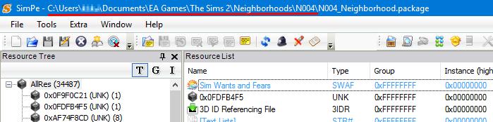 Renaming neighborhood folder simpe 3