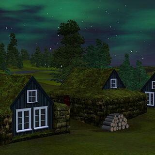 La versión de Aurora Skies, aparecen en el modo decoración en Editar ciudad.