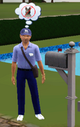 Frank Renaldo delivering mail