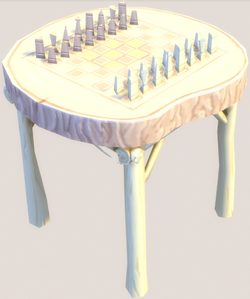 Hand Carved Chess Table