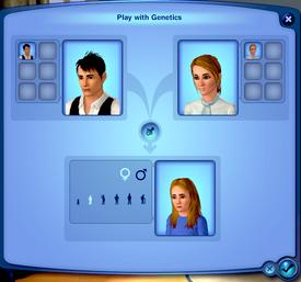 Jouer avec la génétique (Les Sims 3)