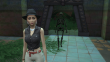 Squelette et exploratrice à Selvadorada