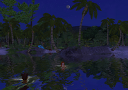 Castaway Beach at night