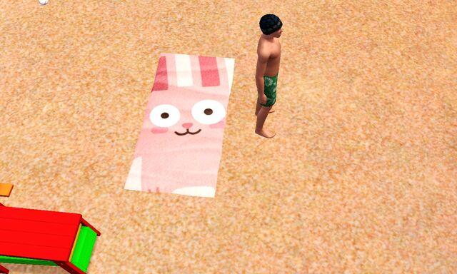 File:Freezer Bunny beach towel.jpg