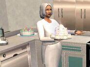 Isabella cuisinant
