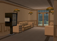 Teleprompter Apartments lobby and mailbox