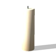 Cylindrical Molded Candle