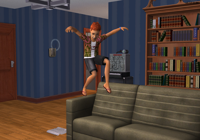 Dominic jumping on the couch