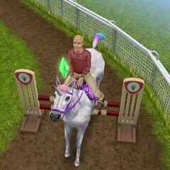 Sim con unicornio arcoíris