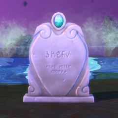 La lápida de un hechicero.