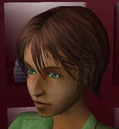 Meg Hair Sims 2 Beta (Brown)