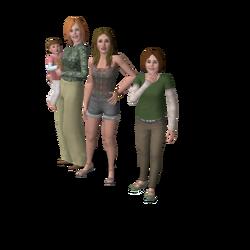 Alleenstaande moeders huishouden