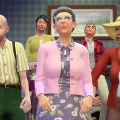 Un grupo de ancianos.